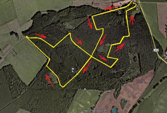 MTB XC- Race-Hainholz Google Earth