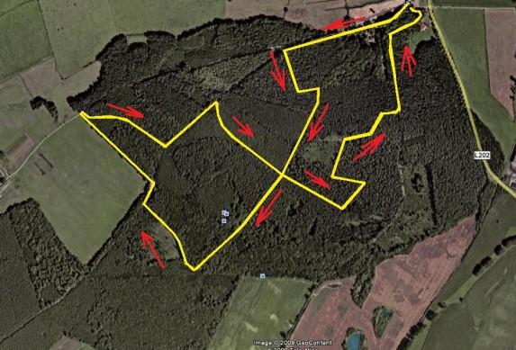 MTB XC- Race-Hainholz Google Earth